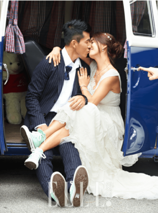 Image: Jung Hye Young and her husband Sean