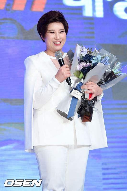 Pak Se Ri at the KLPGA awards on Dec 06, 2016. [Photograph in courtesy of OSEN]
