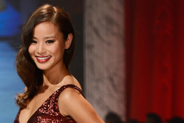 Jamie Chung Red Dress
