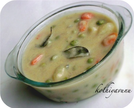 Vegetable Kurma-Kerala Style Vegetable Kurma