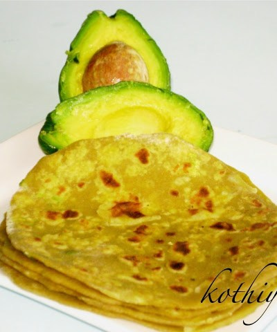 Avocado Paratha Recipe | Avocado Chappati Recipe | Indian Flat Bread with Avocado