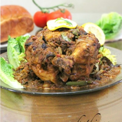 Kozhi Nirachathu /Stuffed Chicken with Gravy – Kerala Style