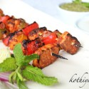 Tandoori Paneer Tikka Recipe – Spiced Skewered Grilled Cottage Cheese Recipe