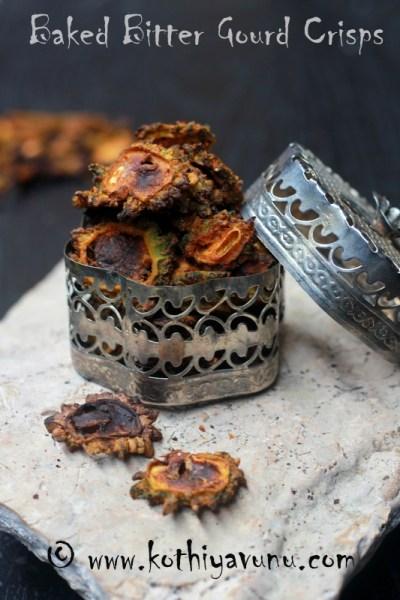 Baked Pavakka Kondattam Recipe – Kaipakka Kondattam – Vattal Recipe – Oven Crisped Bitter Gourd Recipe