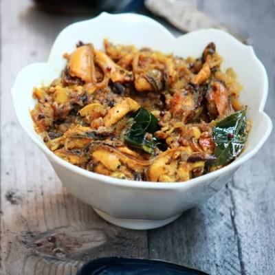 Kallumakkaya Irachi Pepper Fry Recipe – Mussels Pepper Fry Recipe – Kerala Style