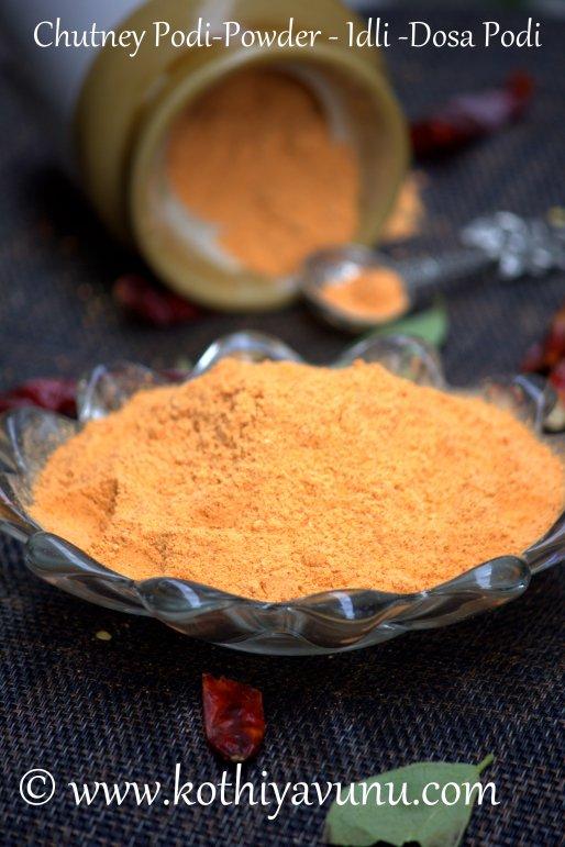 Idli-Dosa Podi -Chutney Powder kothiyavunu.com