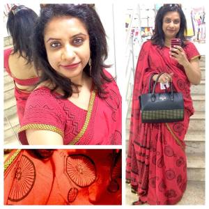 The cyclebike sari that Ive been wanting to wear sincehellip