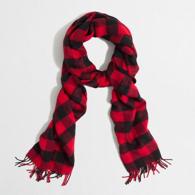 j crew factory buffalo plaid scarf