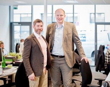 v.l.: Redaktionsleiter Michael Passon, und Daniel Poerschke Verlagsleiter Niederrhein