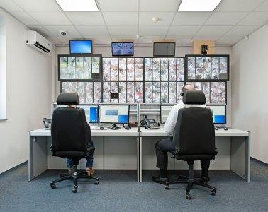Notrufzentrale, Bildschirme, Video