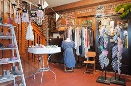 Innenraum, Geschäft, Kleidung, Schuhe