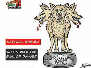 Aseem Triveid's cartoon that landed him in jail for sedition