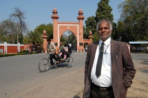 In Person Professor S.R. Siras outside AMU, February 2010. (Photograph by Jitender Gupta) Outlook