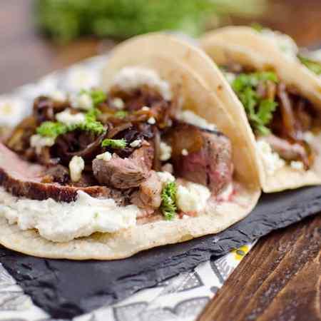 Steak & Whipped Bleu Cheese Tacos