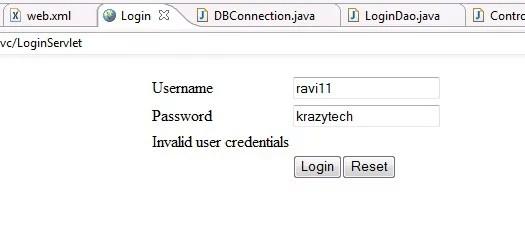 login application in java
