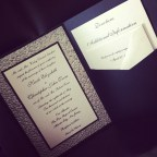 Pebble Texture Wedding Invitation Pocket