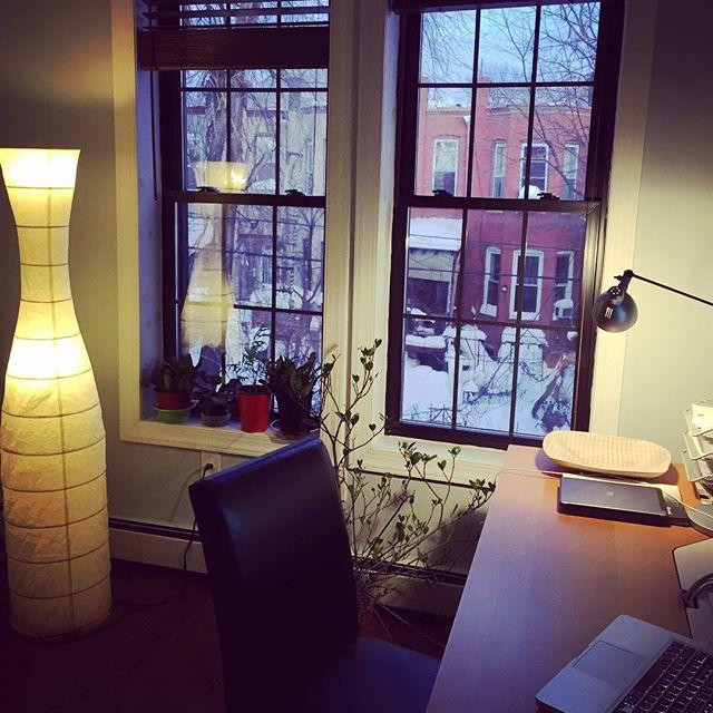 Sunday home office #flatbushcottage #latergram