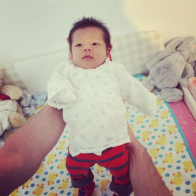 Hard to leave in the morning when you hold this cutie #xiaohouzi