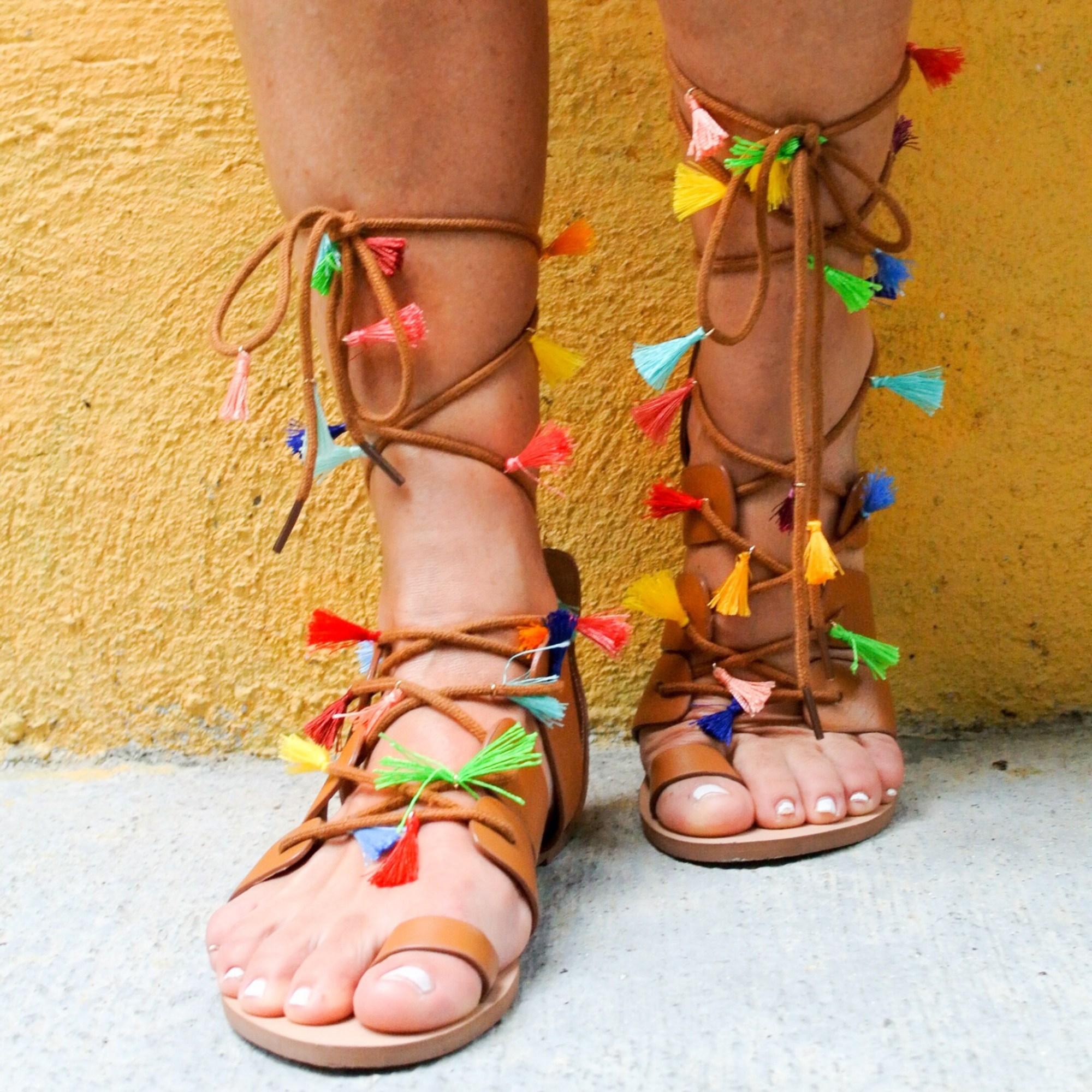 DIY Tassel Sandals 9