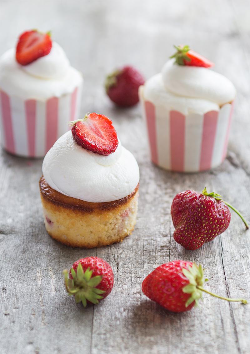 Jordgubbscupcakes