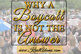 why a boycott is not the answer