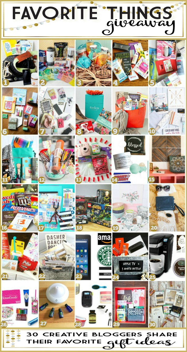 Favorte Things Giveaway and Gift Ideas for the Holidays