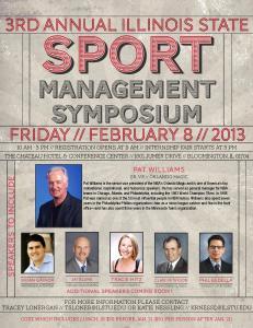 Sport Management Symposium event flyer
