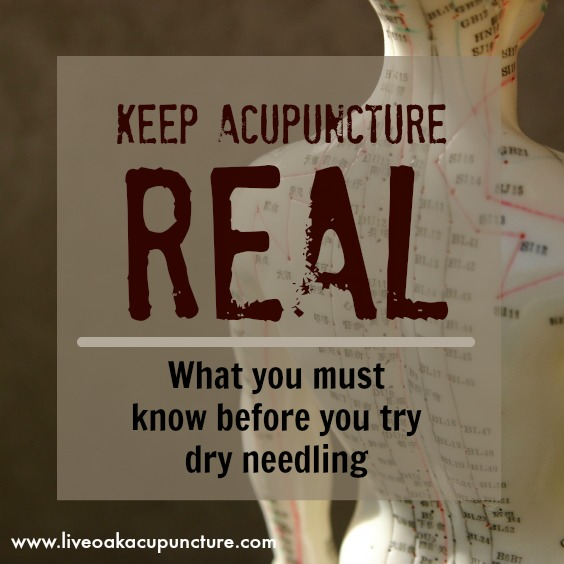 Dry Needling Is Still Acupuncture | Doctor of Acupuncture, D.Ac ...