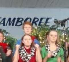 The Haystacks Teen Choir at the Reilly Springs Christmas Jamboree on December 20.