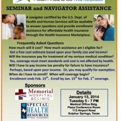 Health Insurance Marketplace Seminar & Navigator Assistance