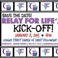Relay For Life Kick-Off January 8th