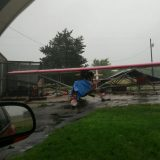 Backyard Hanger In Yantis Area Obliterated by Monday Storm