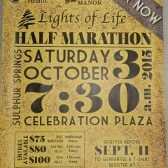 Lights of Life Track and Field Certified Half Marathon is Saturday