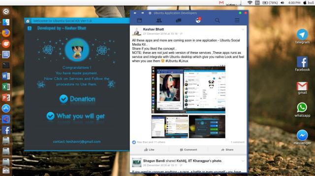 facebook desktop ubuntu app