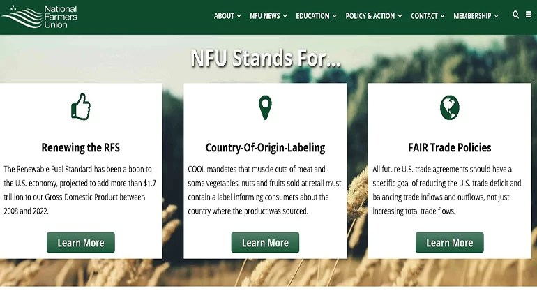 National Farmers Union defends family farmers against proposed rule change to estate tax