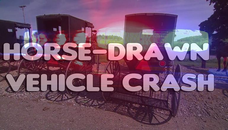 Gentry man seriously injured in horse-drawn vehicle crash