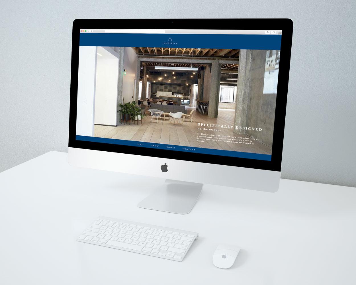 Desde KUINI Estudio de diseño gráfico en Alicante hemos realizado la pagina web y la imagen corporativa de Immoleiva, dedicada al sector immoviliario.