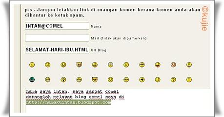 Cara Menulis Komen Di Kujie2.com
