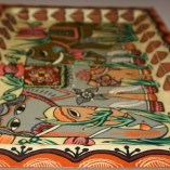 Elephant painted tray