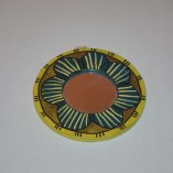 Small flower painted paper meche mirror