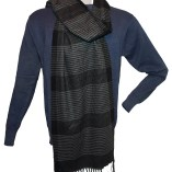 bluesweater with grayscarf