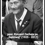 """Zmarł ppor. Ryszard Zacheja ps. """"Sędziwoj"""" – jeden z ostatnich już żołnierzy radzymińskiej Armii Krajowej"""