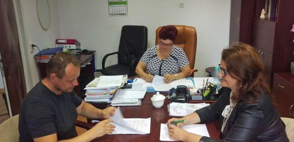 Podpisanie umowy na ul. PARKOWĄ