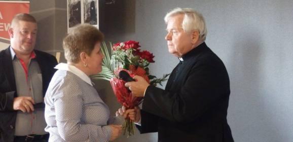Spotkanie z  księdzem prałatem Bronisławem Piaseckim