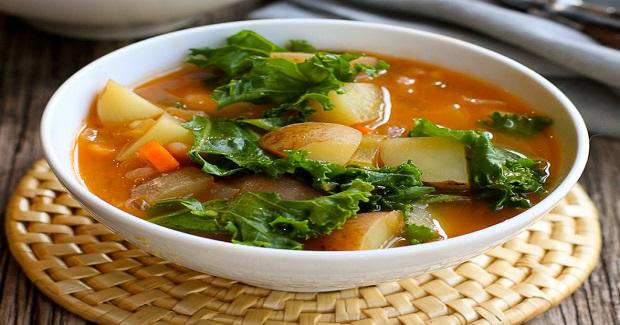 Vegan Potato Soup Recipe With Beans & Kale Recipe