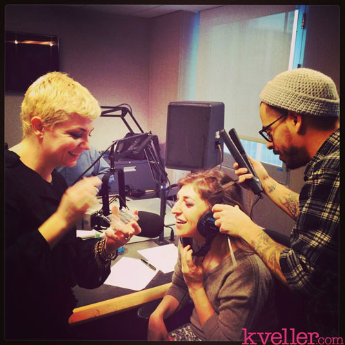 mayim-getting-primped