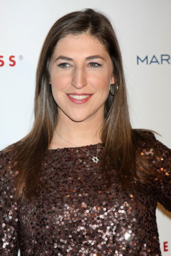 mayim-sparkly-shirt