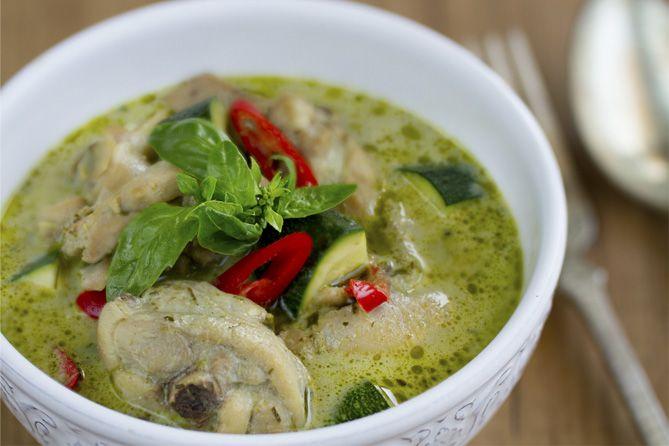Curry Receta, Curry Verde Con Pollo, Curry Tailandés, Pollo Con Curry,  Cocina