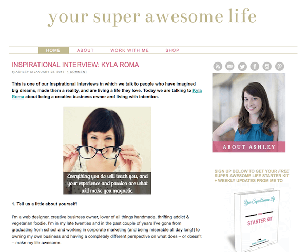 Interview with Your Super Awesome Life