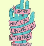 louise bourgeois illustrated quote by josh lafayette
